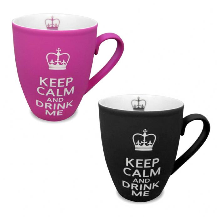 Keep Calm and Drink Me Coffee Mug, Ceramic Soft Touch Mug